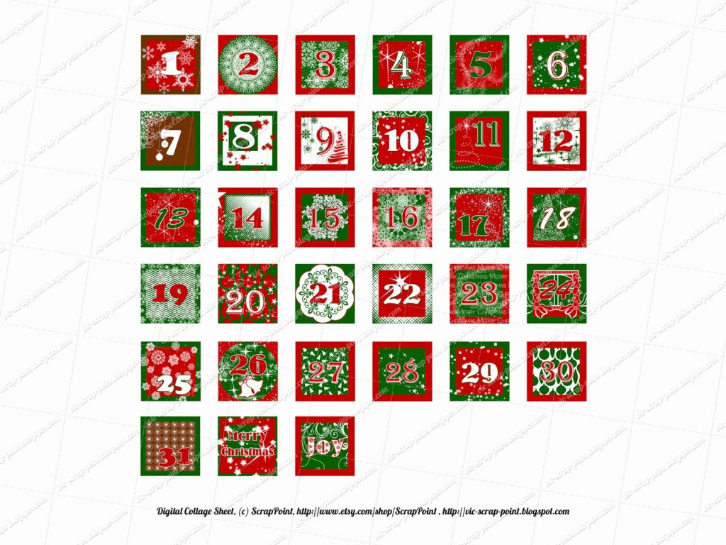 Advent Calendar Numbers Printable That Are Dashing | Kenzi's