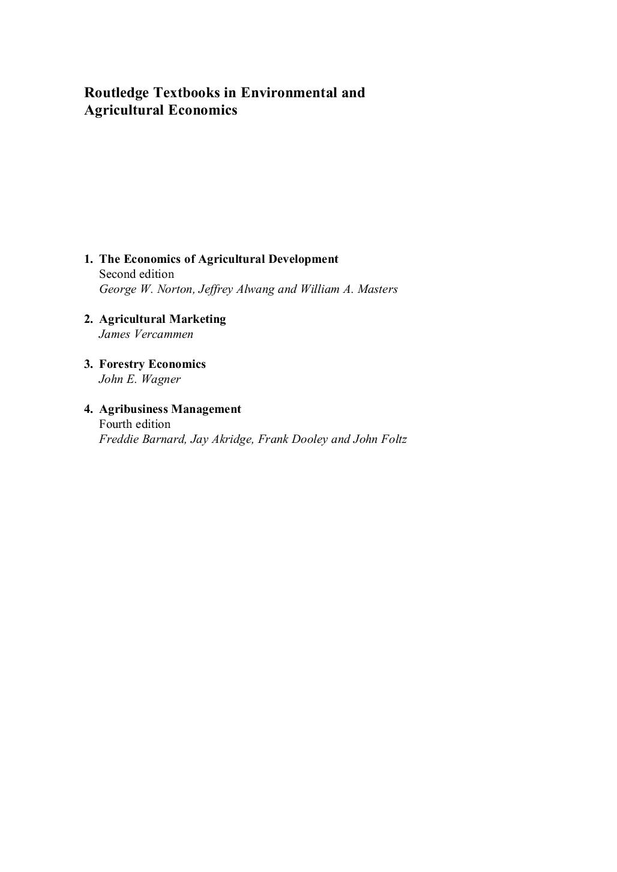 Agribusiness Management 4Th - Gestao De Empresas Do