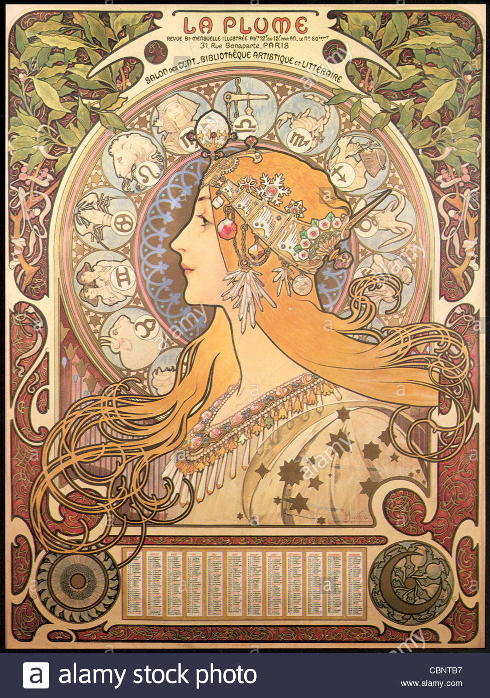 Alphonse Mucha Zodiac Stock Photo: 41662075 - Alamy