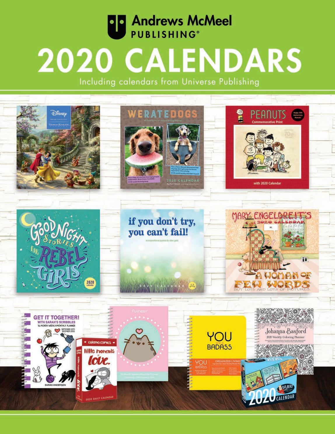 Andrews Mcmeel Publishing 2020 Calendar Catalogandrews