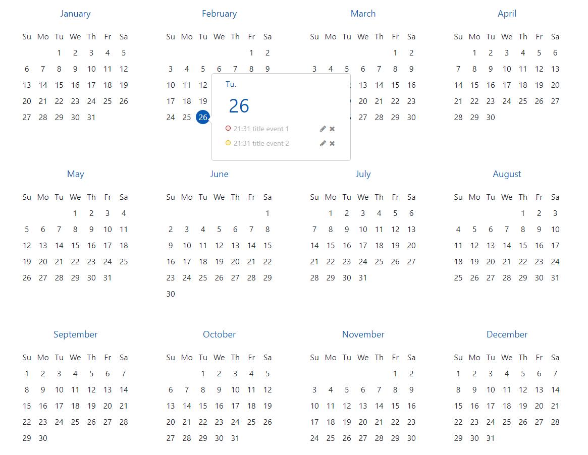 Angular-Calendar-Year-View - Npm
