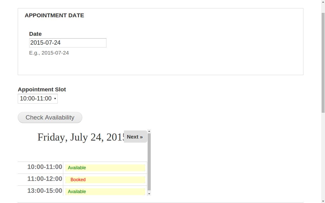 Appointment Calendar | Drupal
