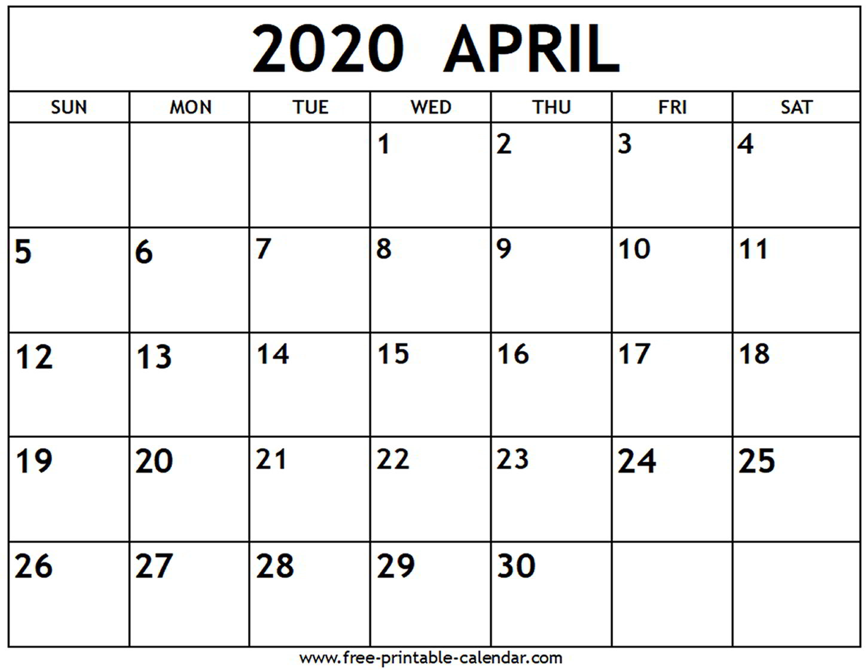 April 2020 Calendars - Wpa.wpart.co