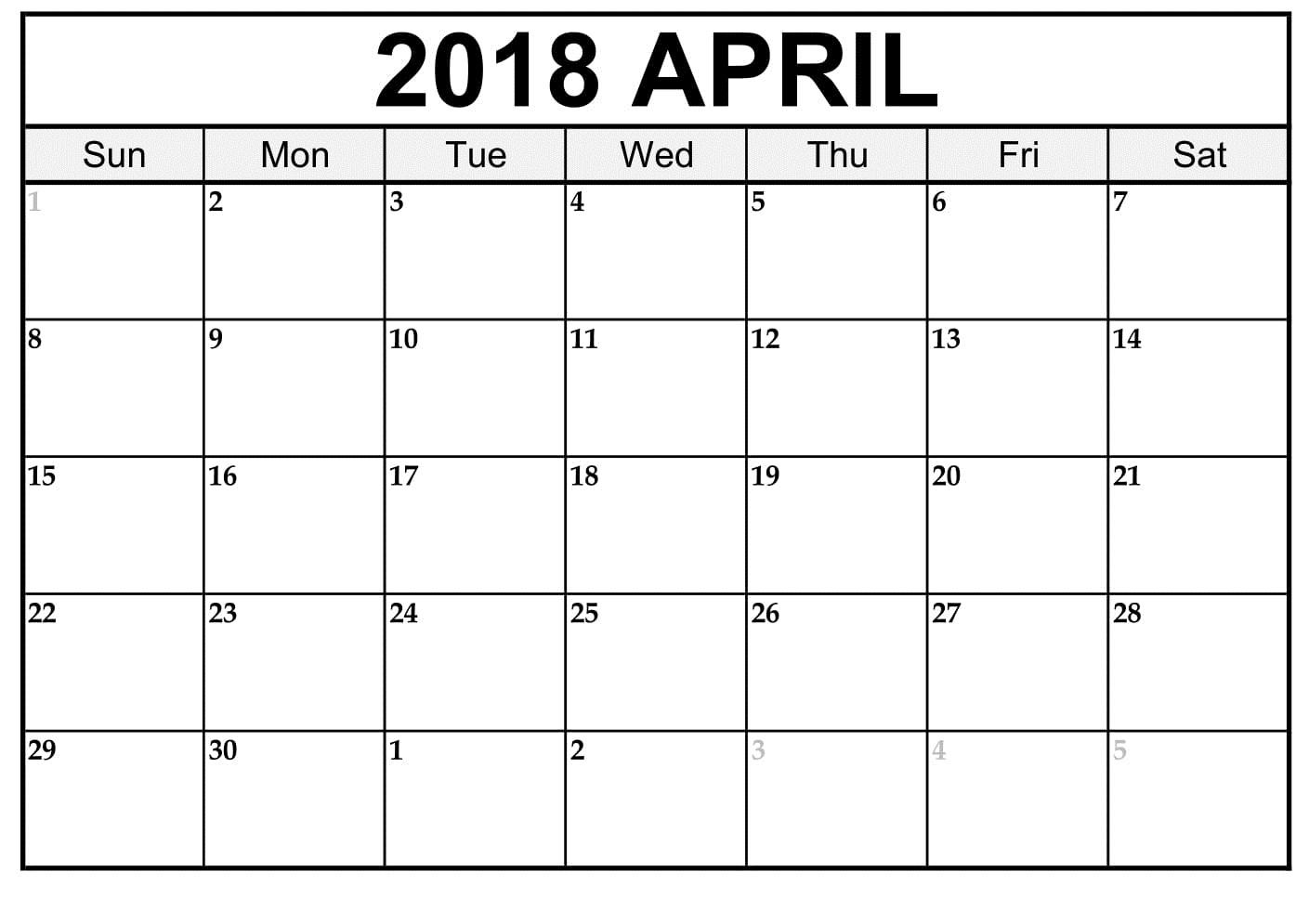 April Calendar Word - Wpa.wpart.co