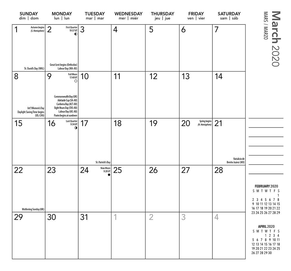 Ariel Collection 2020 Pocket Planner Calendarplato