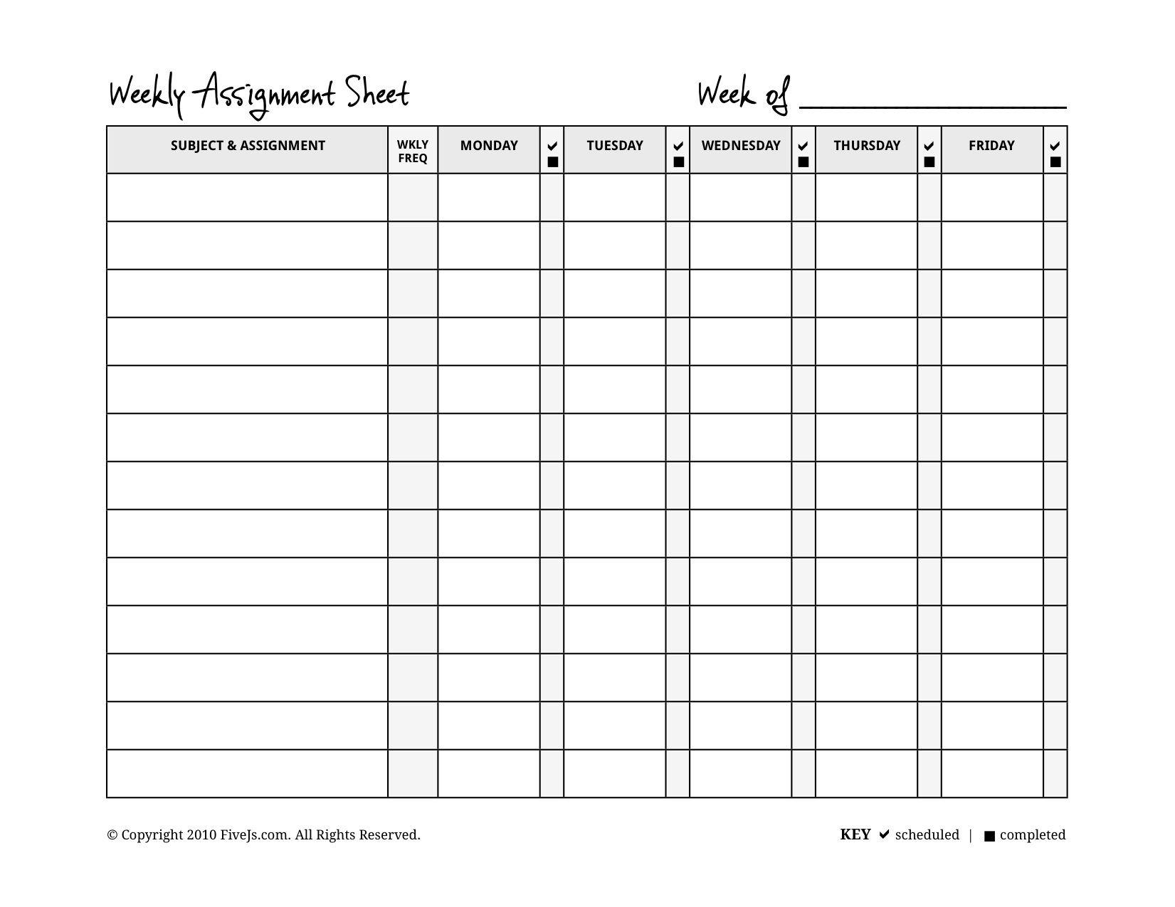 Assignment Calendar - Wpa.wpart.co