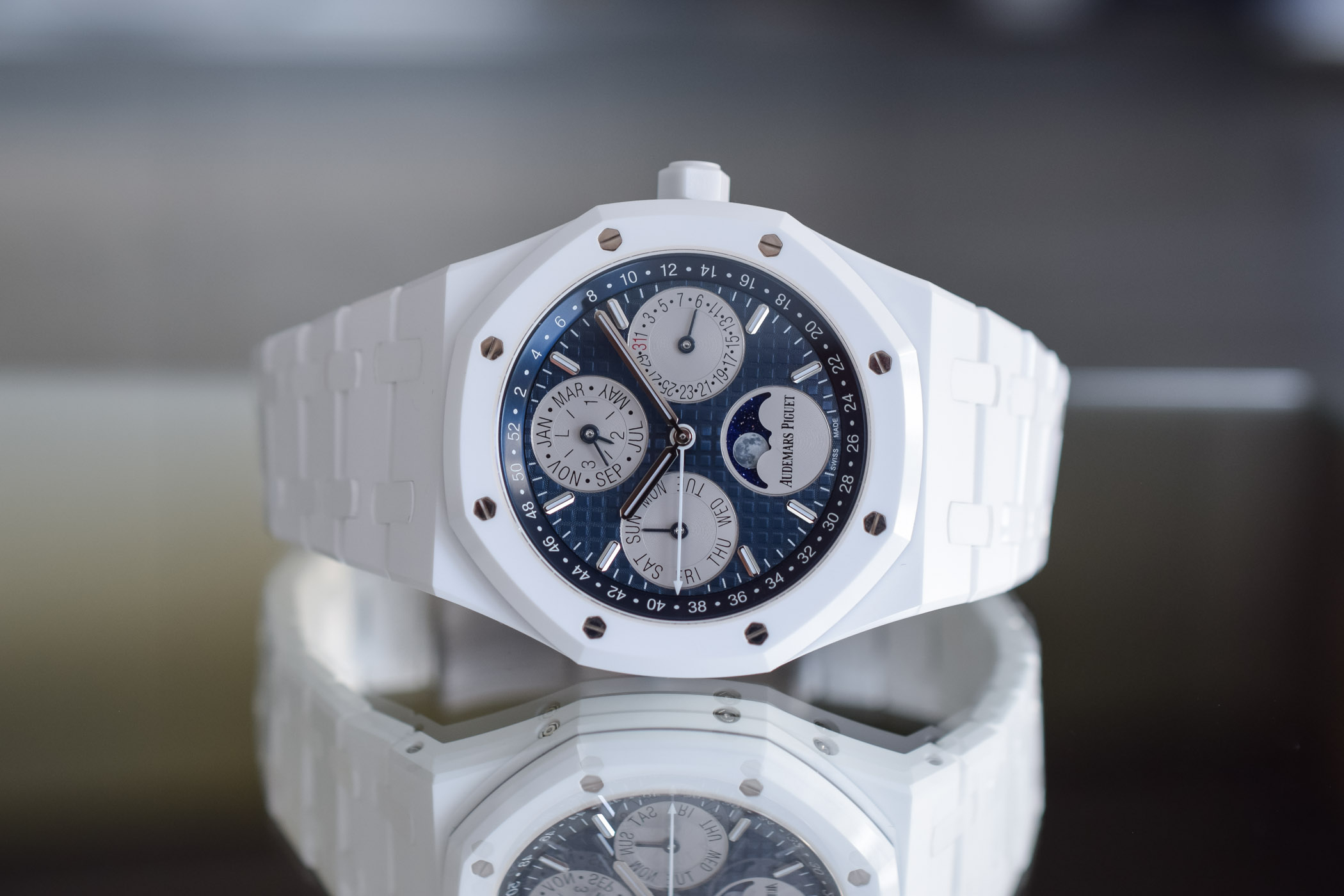 Audemars Piguet Royal Oak Perpetual Calendar White Ceramic