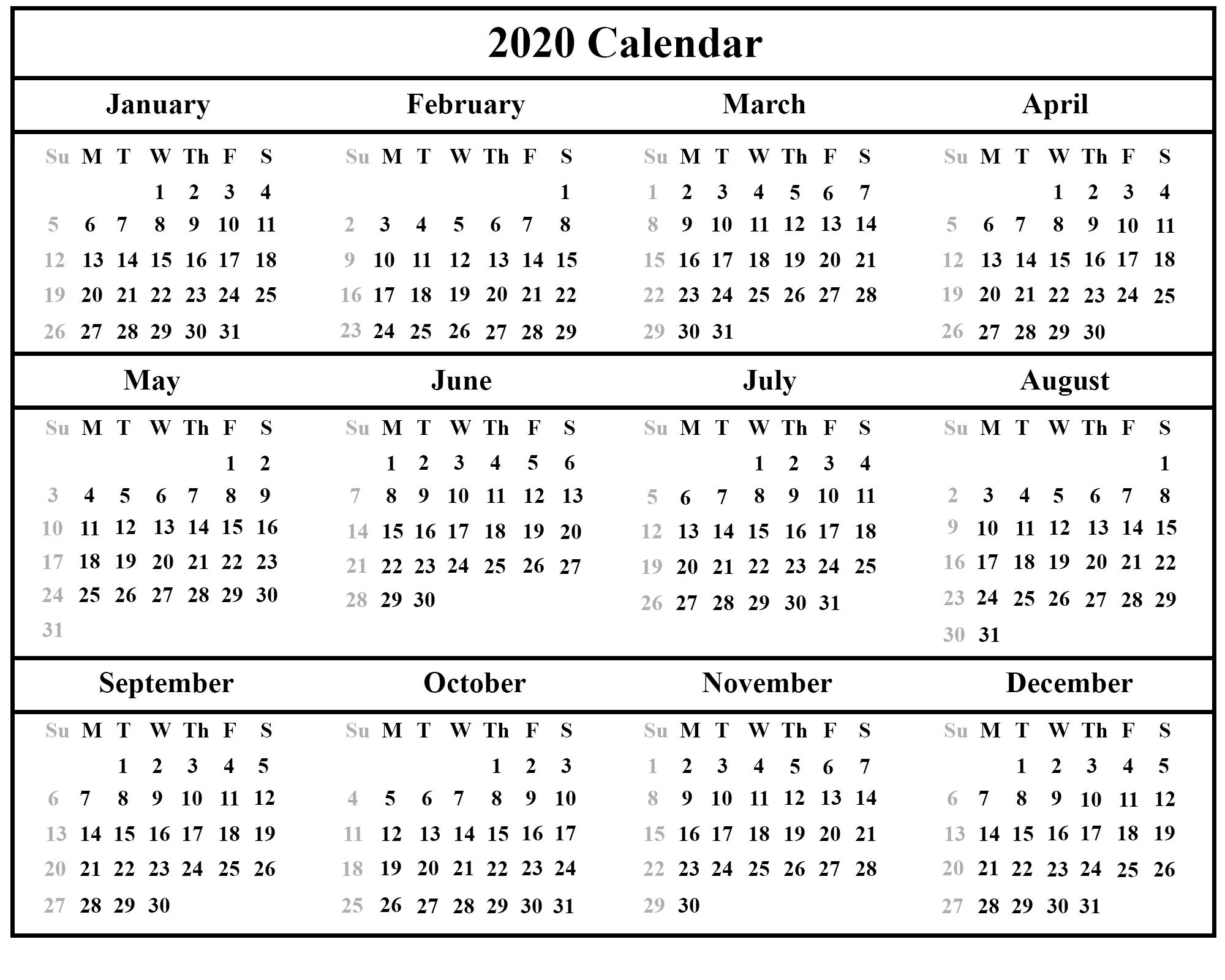 Australia 2020 Printable Calendar | Printable February
