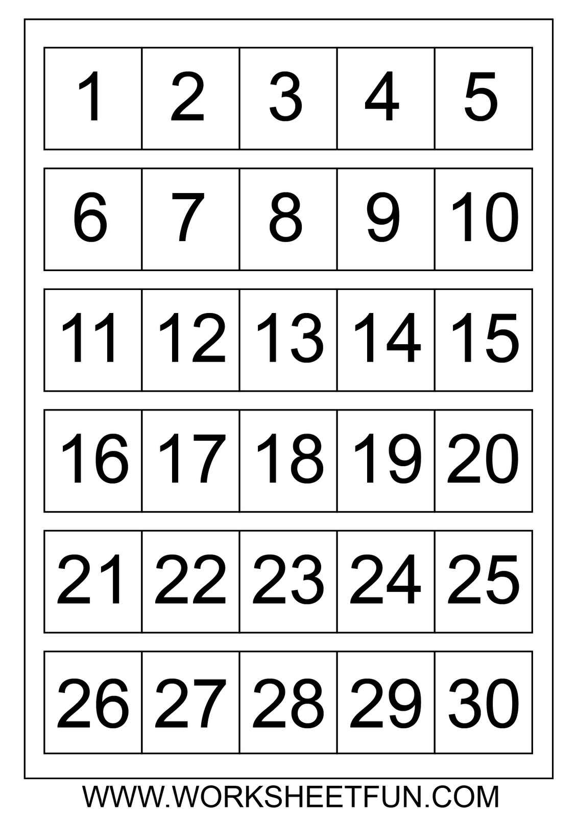 Awesome 1 31 Numbers - Saborame