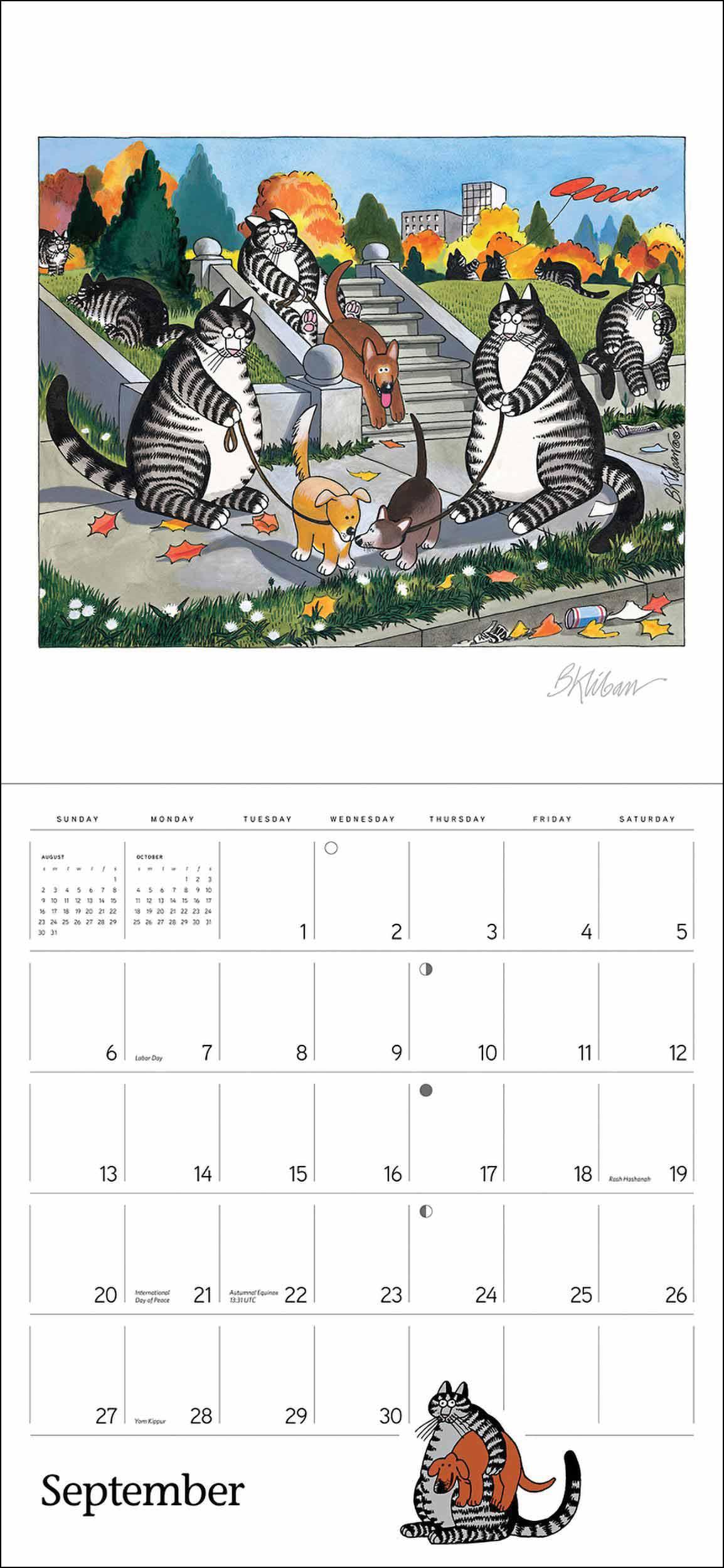 B Kliban, Cat Calendar 2020