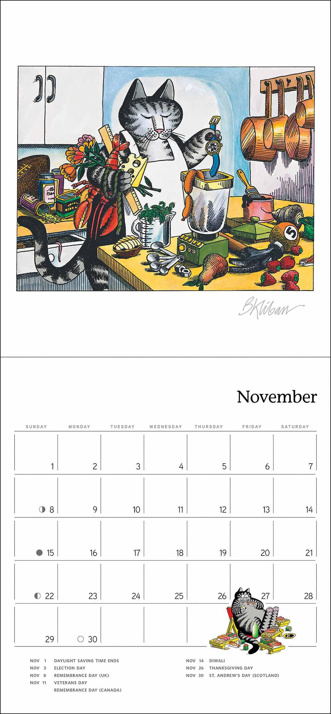 B Kliban, Cat Mini Calendar 2020