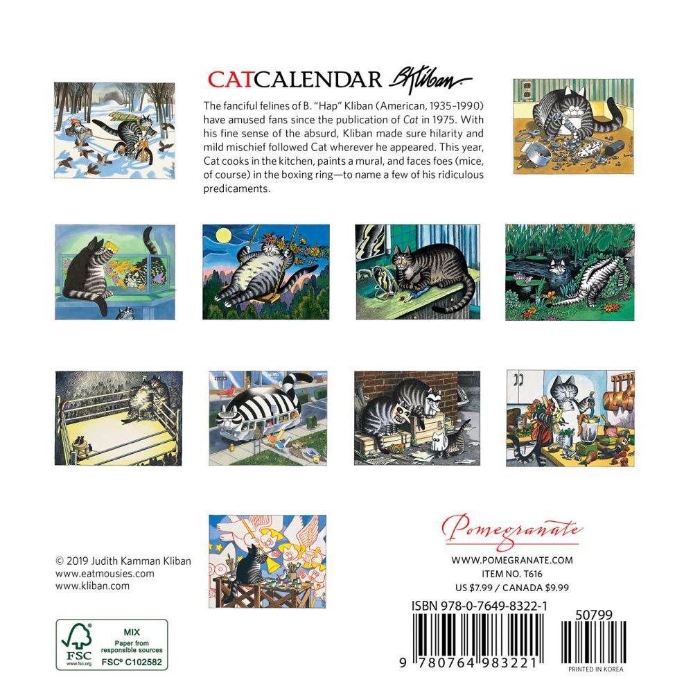 B. Kliban: Catcalendar 2020 Mini Wall Calendar