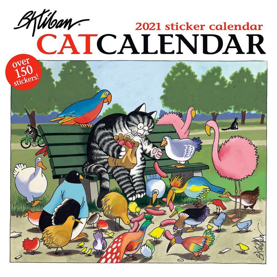 B. Kliban: Catcalendar 2021 Sticker Calendar