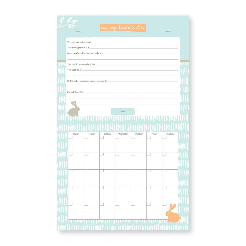 Baby's First Year Calendar - Linen Tree