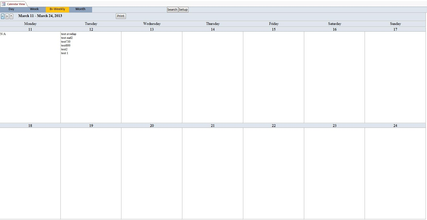 Bi-Weekly+Calendar+Template | Monthly Calendar Template