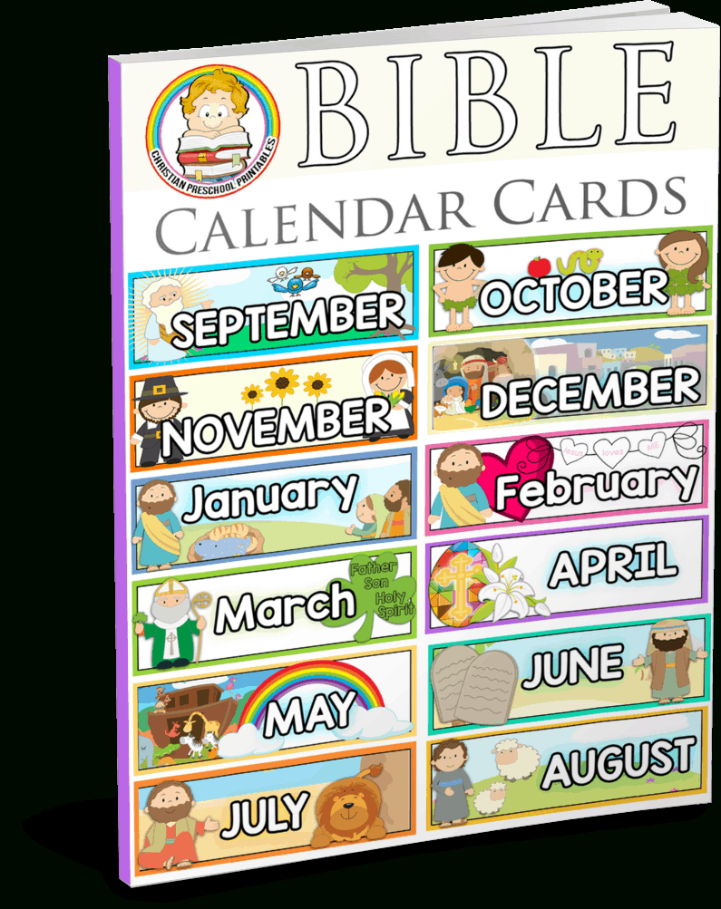 Bible Calendar Printables - Christian Preschool Printables