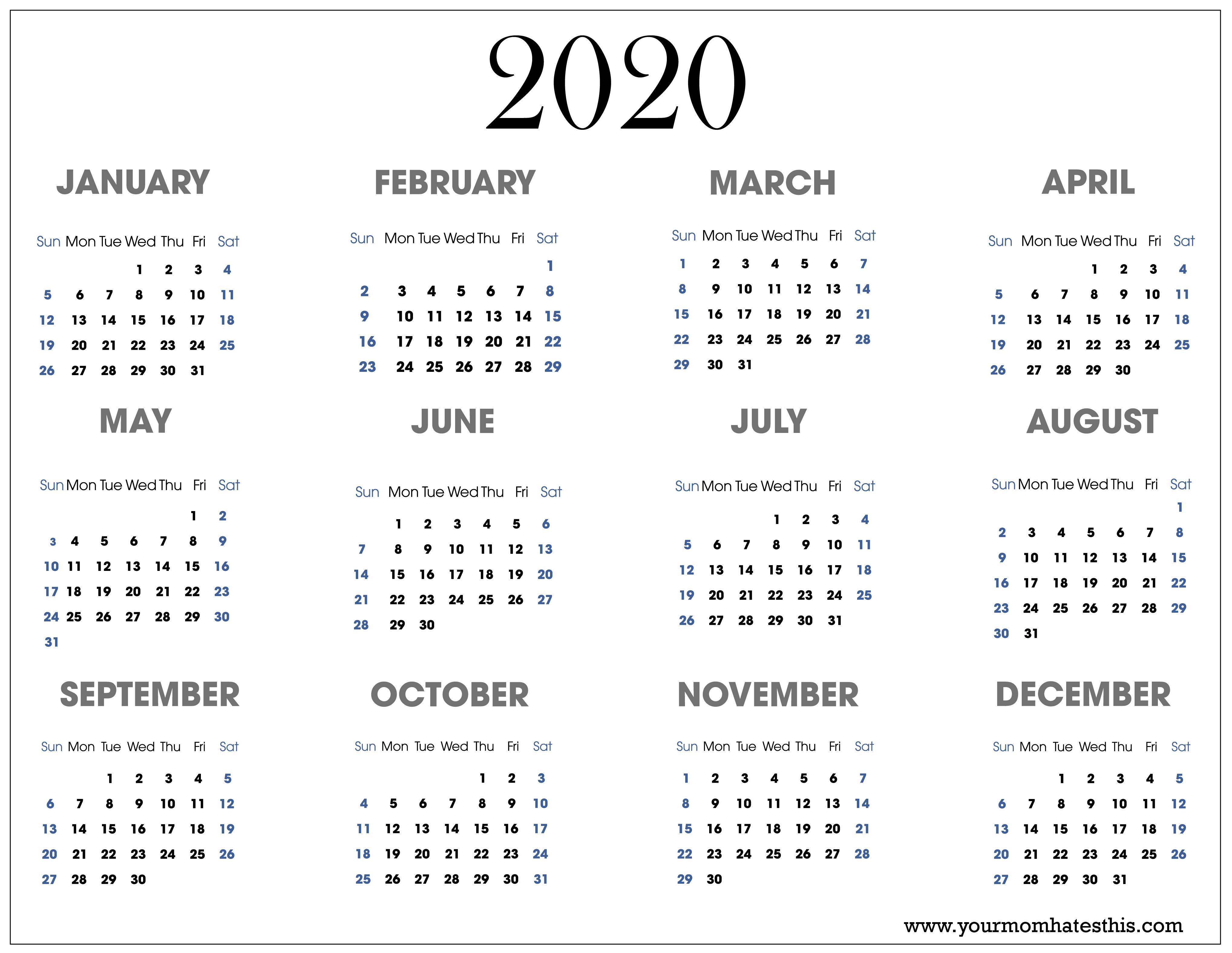 Black Calendars 2020 - Wpa.wpart.co