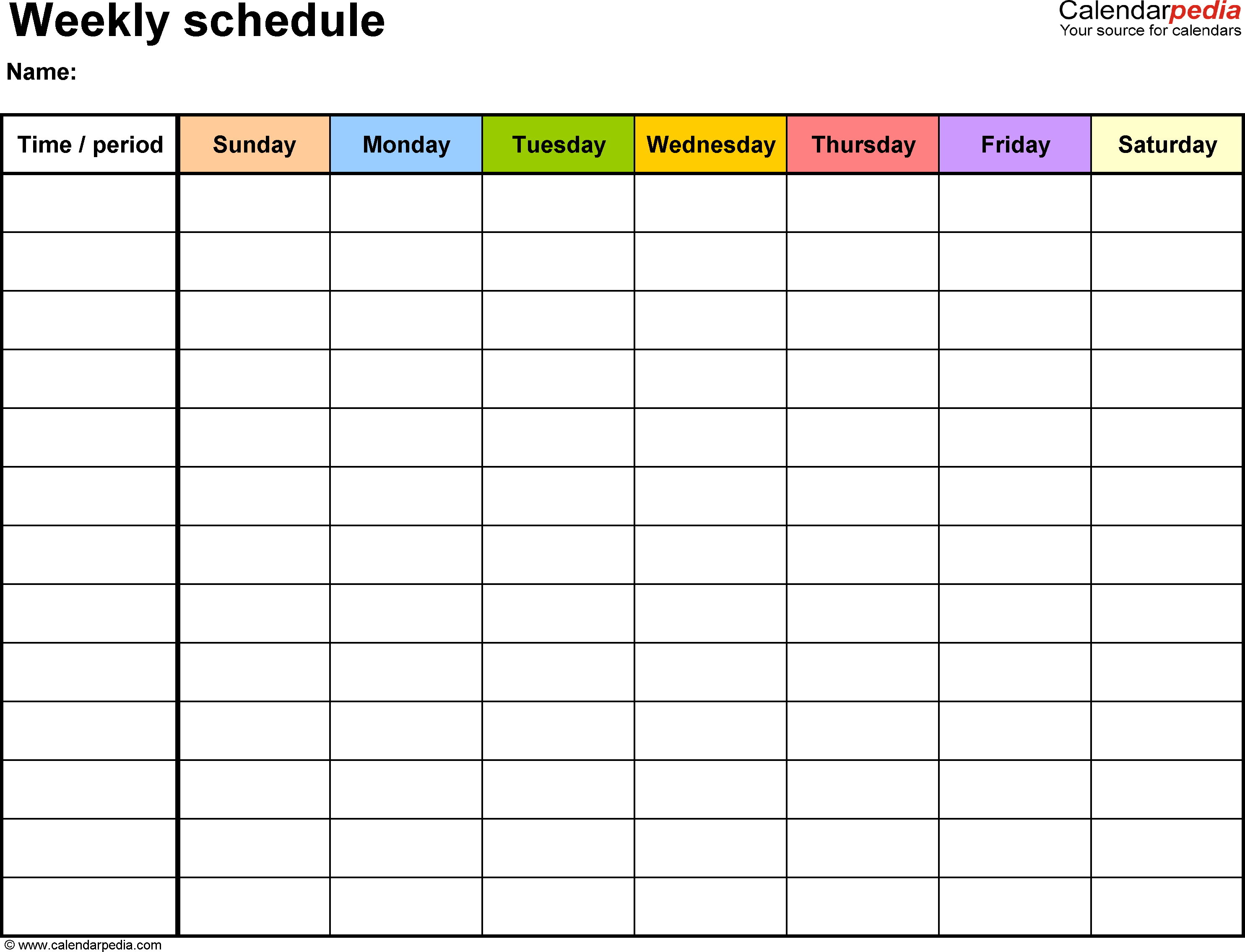 Blank 7 Day Calendar - Wpa.wpart.co