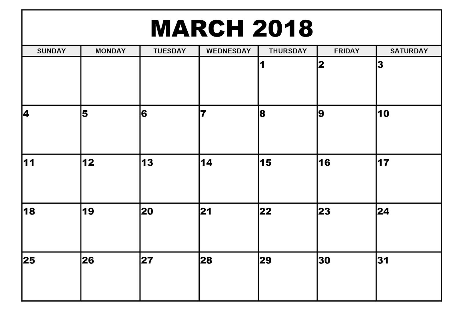 Blank Calendar March - Wpa.wpart.co