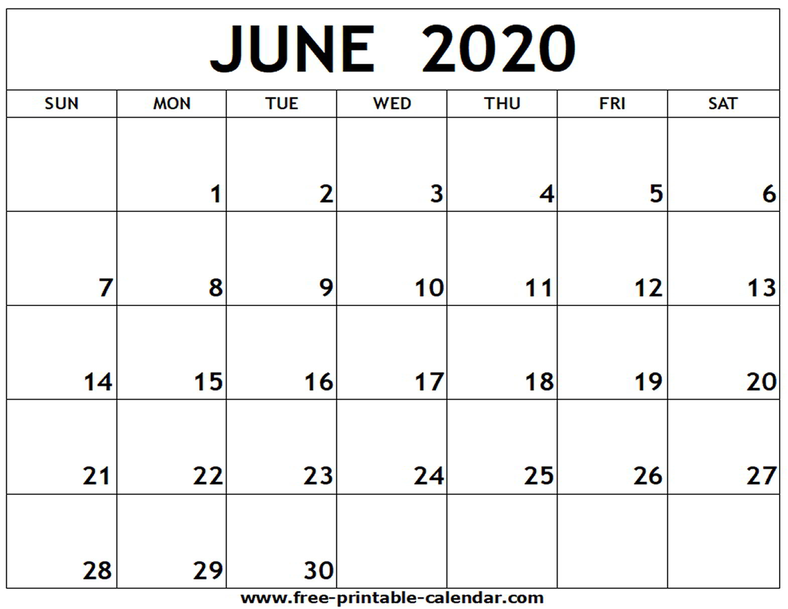 Blank Monthly Calendar July 2020 - Wpa.wpart.co