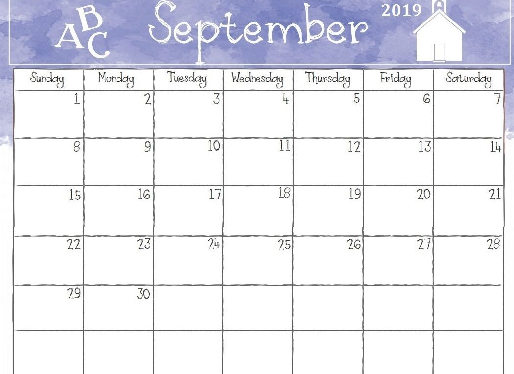 Blank September 2019 Calendar Free Printable Templates