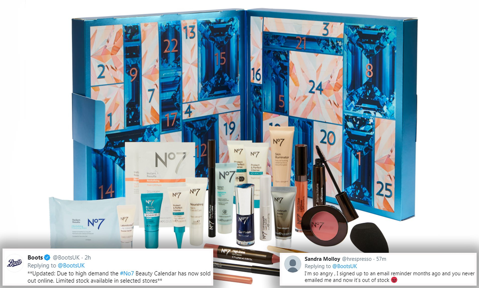 Boots' No7 Advent Calendar Sells Out Online Within Hours Of