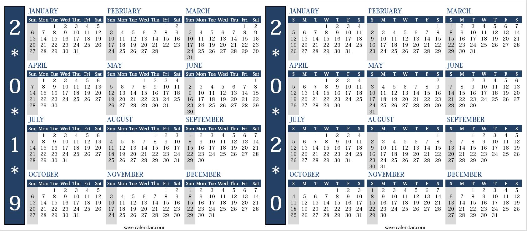 Calendar 2019 2020 Uk | Free Calendar, Templates Printable
