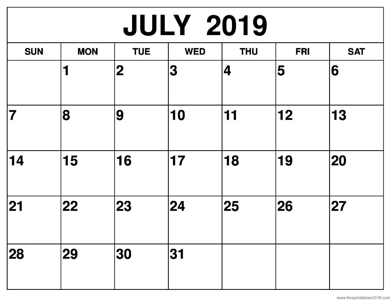 Calendar 2019 Free Template Beautiful Free Printable