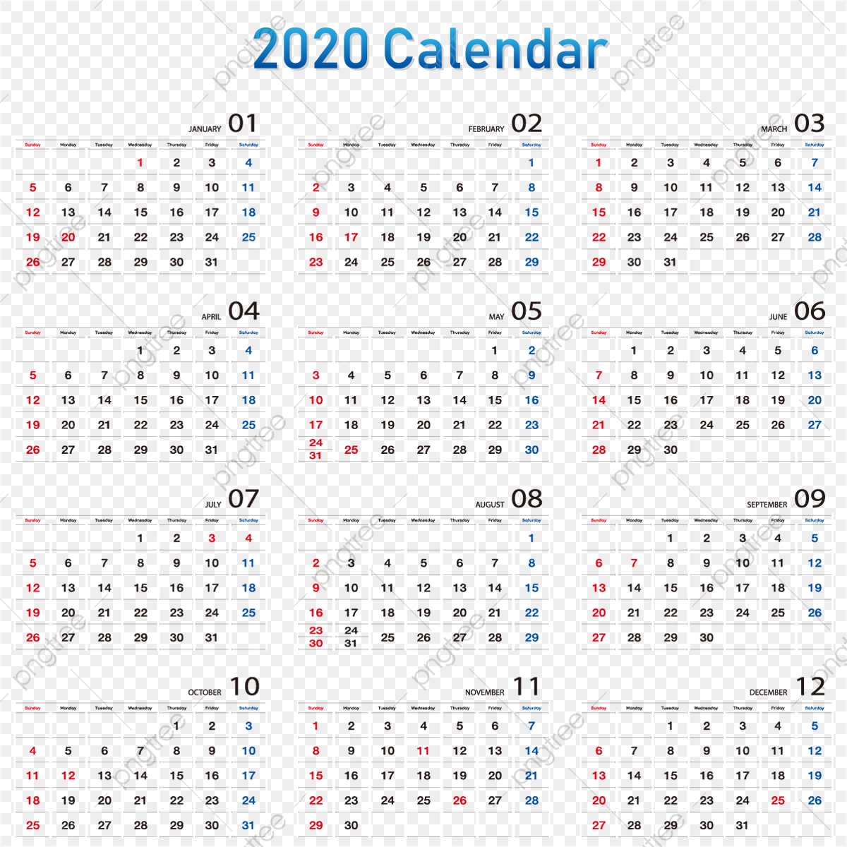 Calendar 2020 2020 Calendar, Date, Calendar, Week Png And