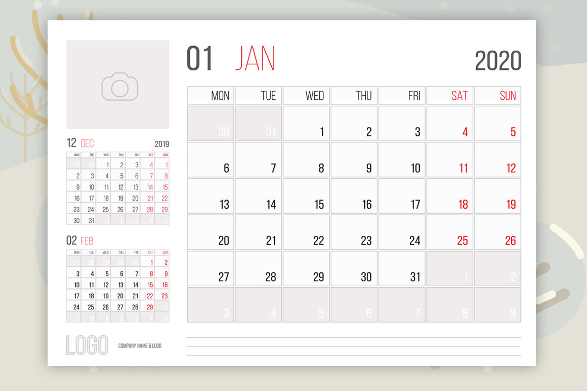 Calendar 2020 Business Planner Designdeno