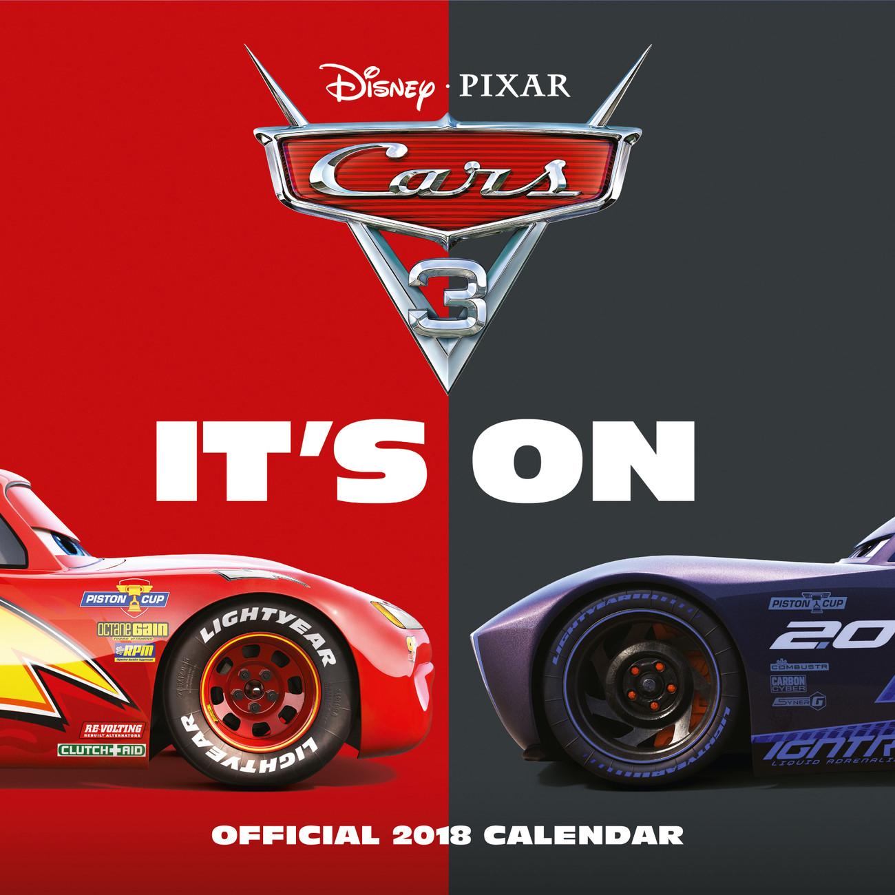 Calendar 2020 Cars 3