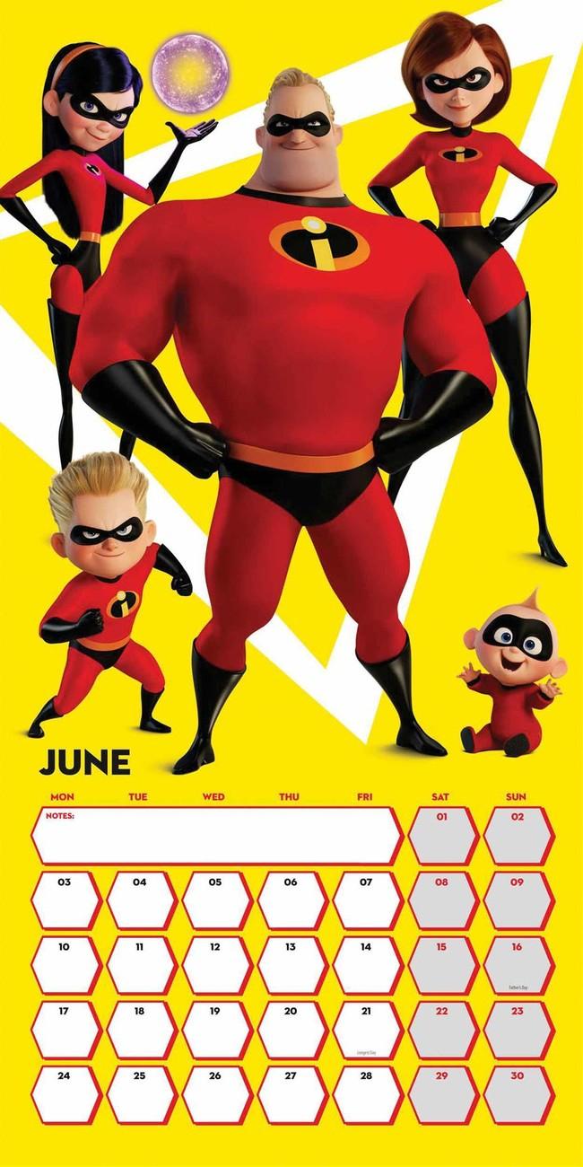 Calendar 2020 Incredibles 2