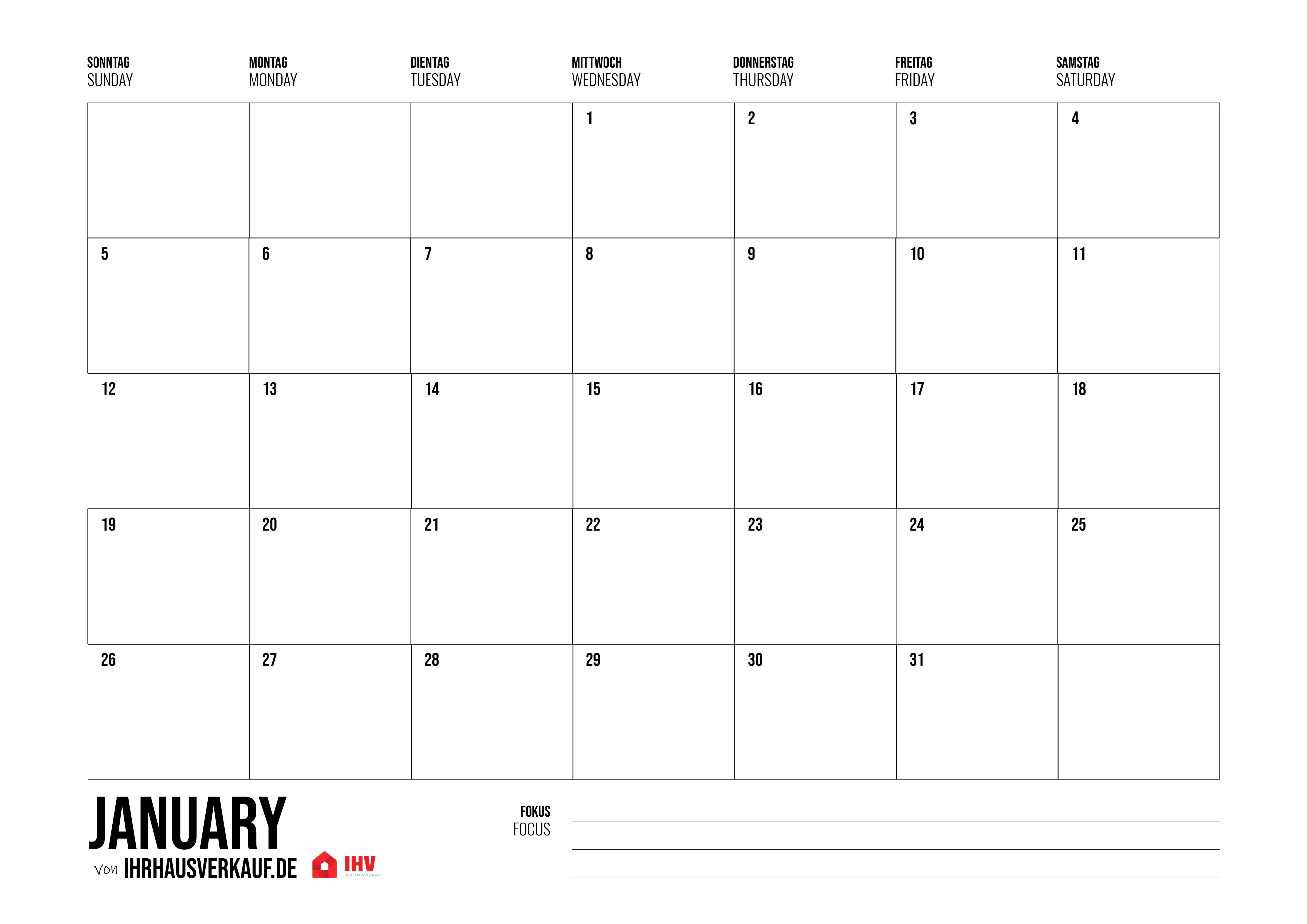 Calendar 2020 To Print Out: All Months And Weeks As Pdf (12+