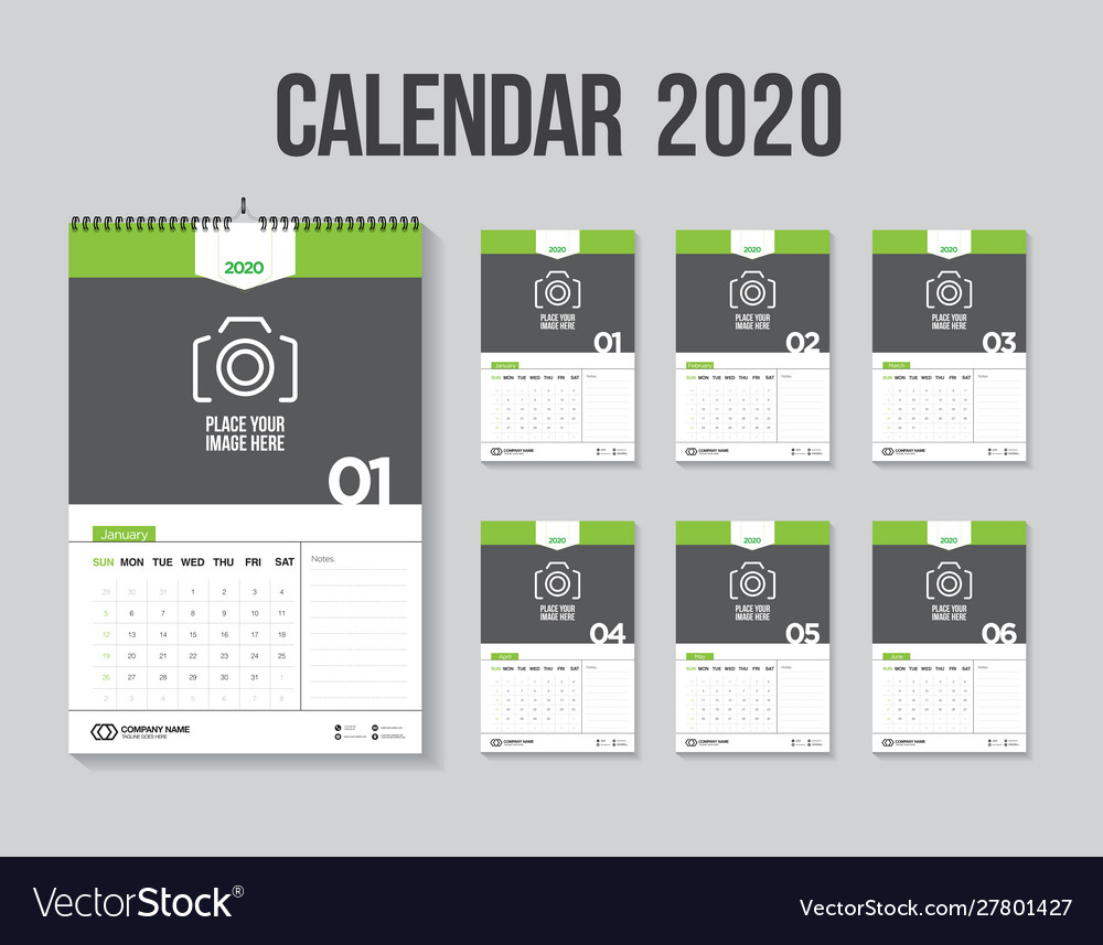 Calendar 2020 Week Start Sunday Corporate Design