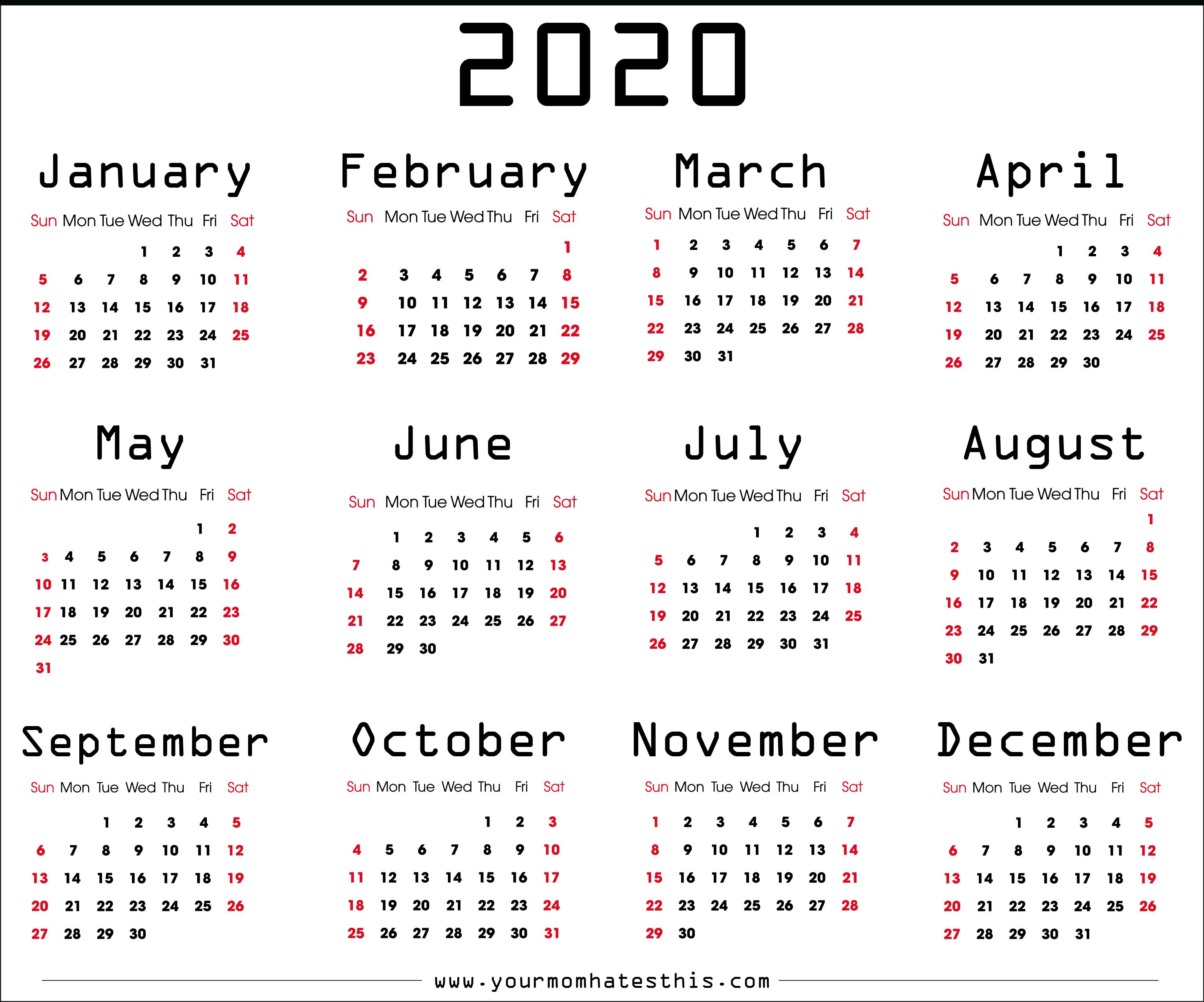 Calendar 2020 Xls - Wpa.wpart.co