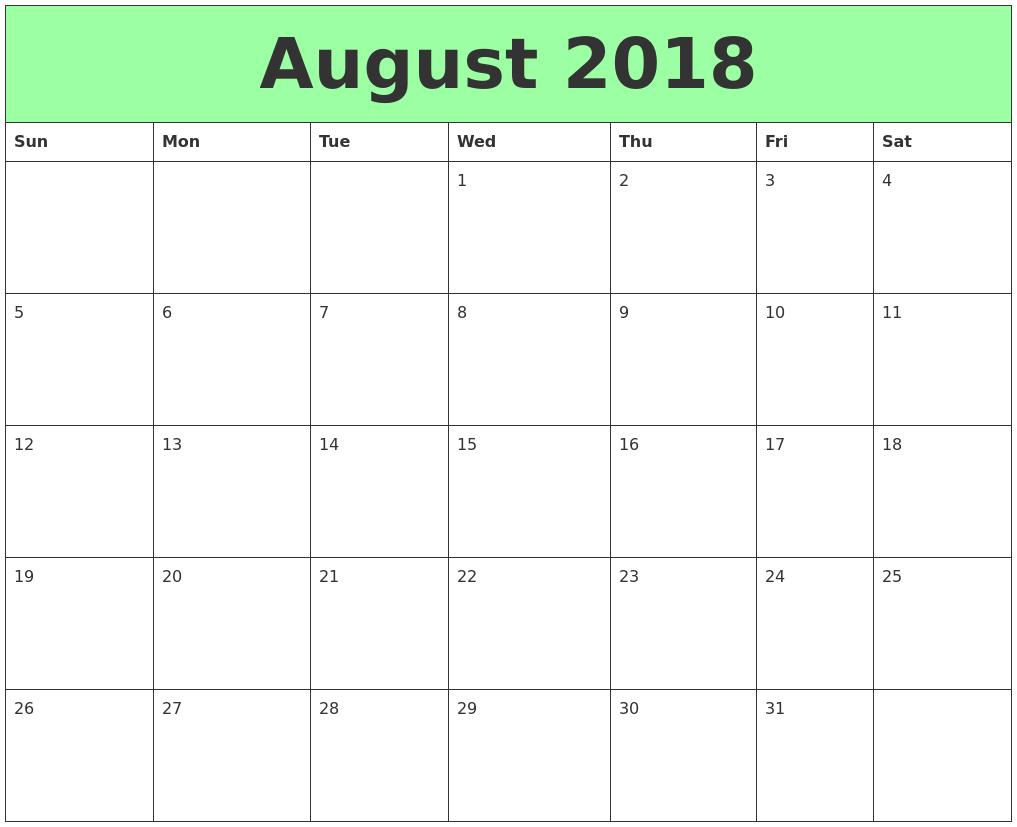 Free Printable Calendar Landscape Format