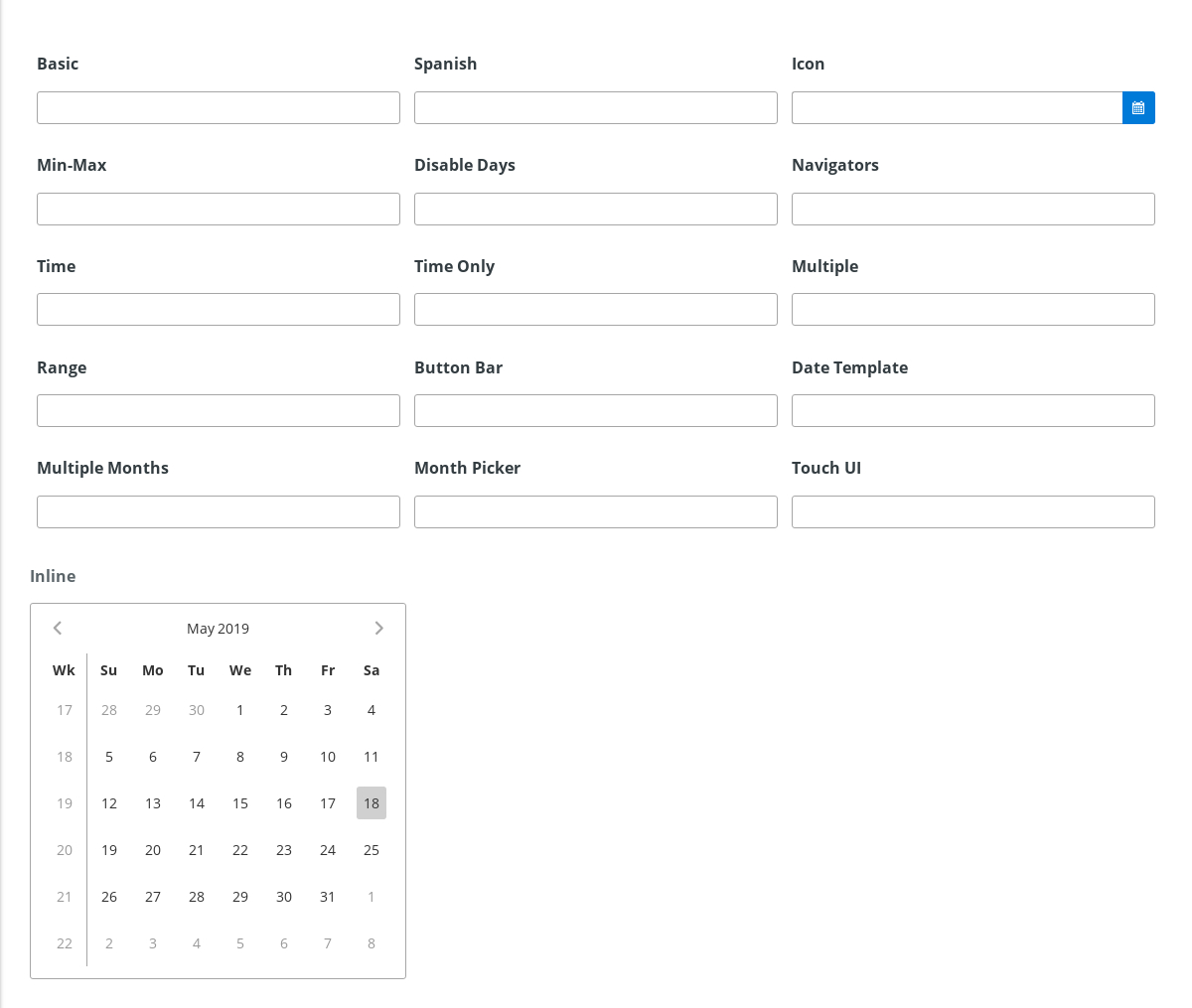 Calendar - 《Primeng Document》 - 书栈网 · Bookstack