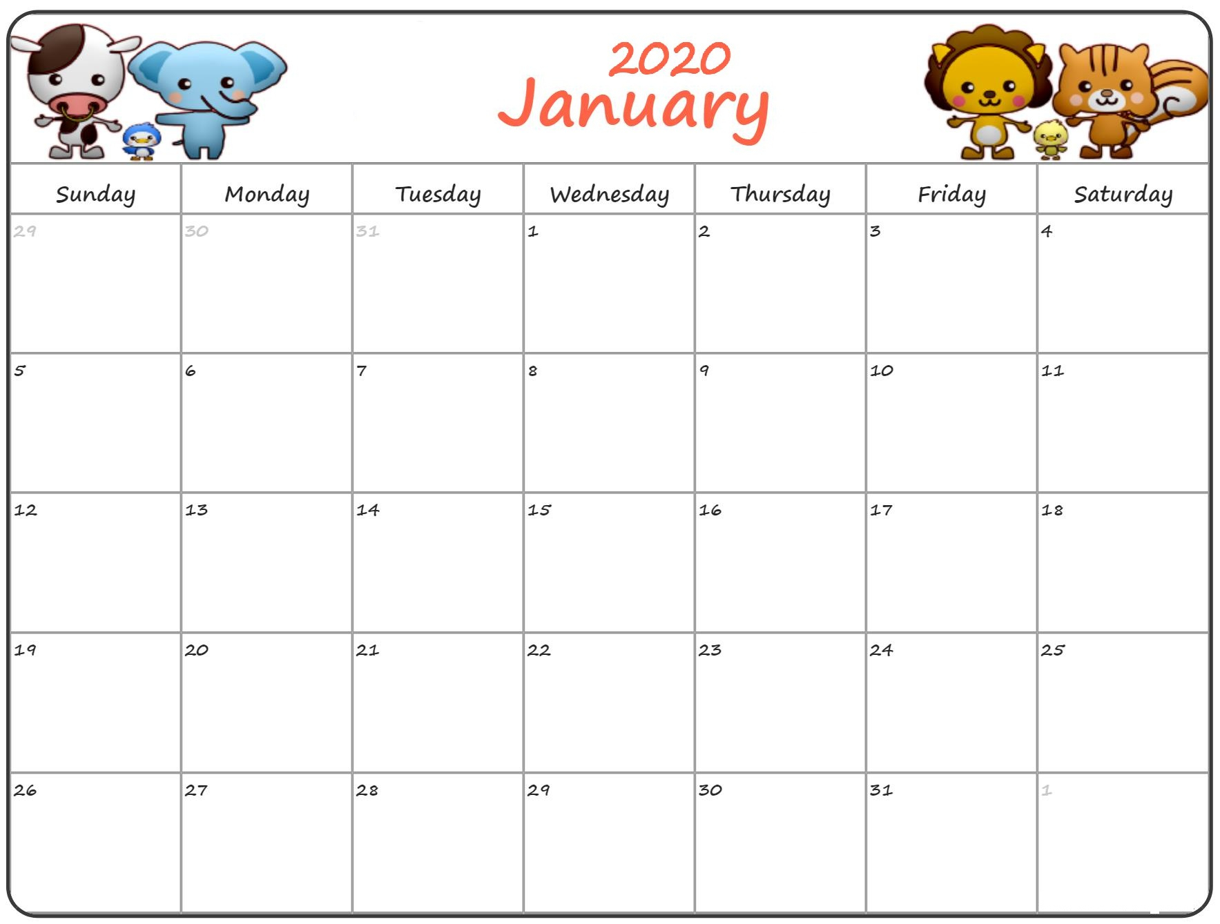 Calendar For January 2020 – Project Schedule Planning | Free