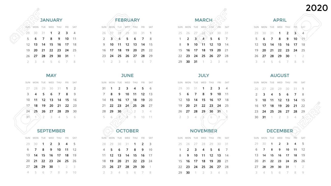 Calendar Infographic, Table Chart, Presentation Chart. Business..