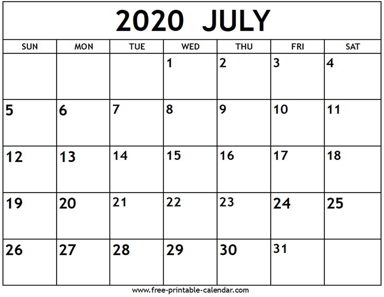 Calendar July 2020 - Wpa.wpart.co