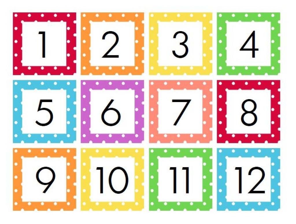 Calendar Numbers Clipart