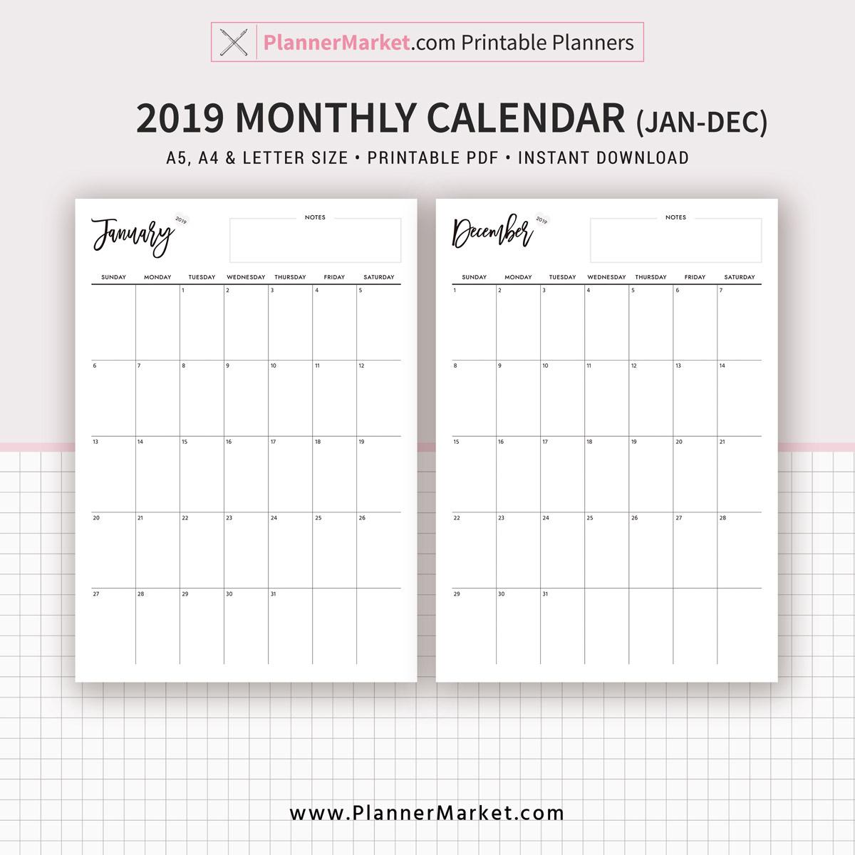Calendar Planner Printable - Wpa.wpart.co