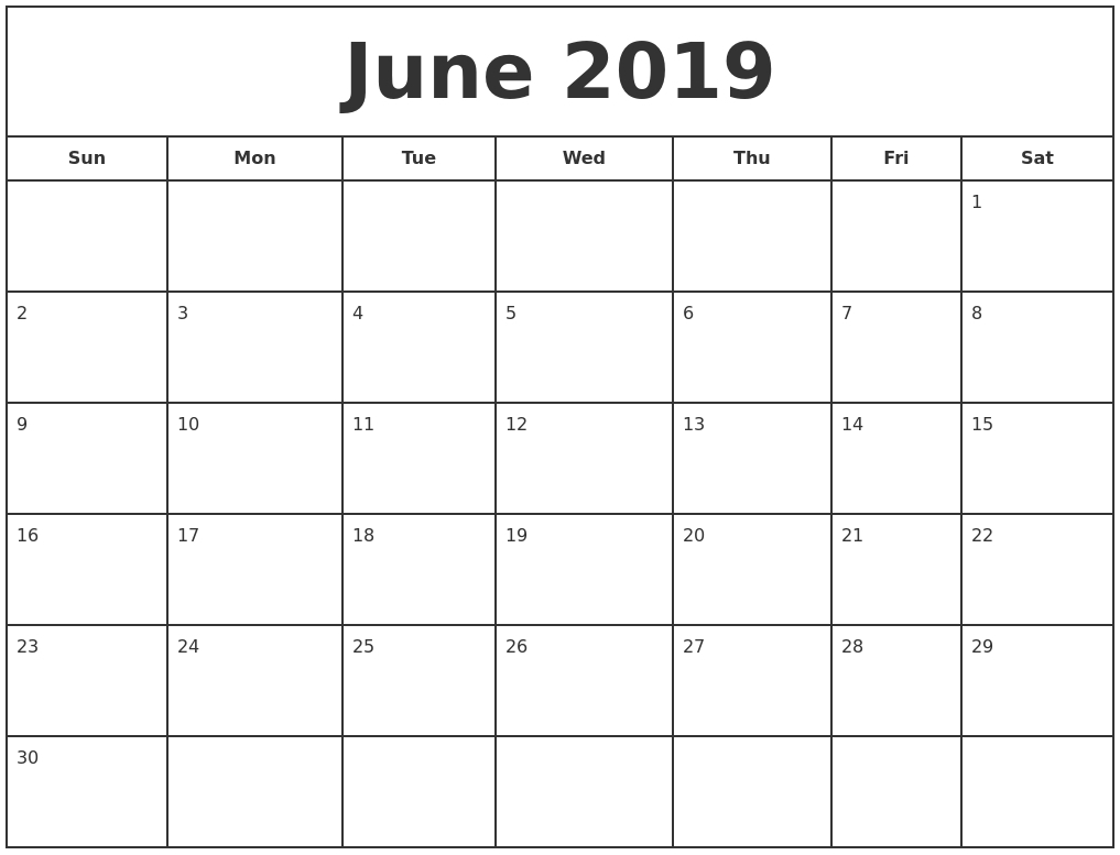 Calendar Template Calendarlabs 2019 • Printable Blank