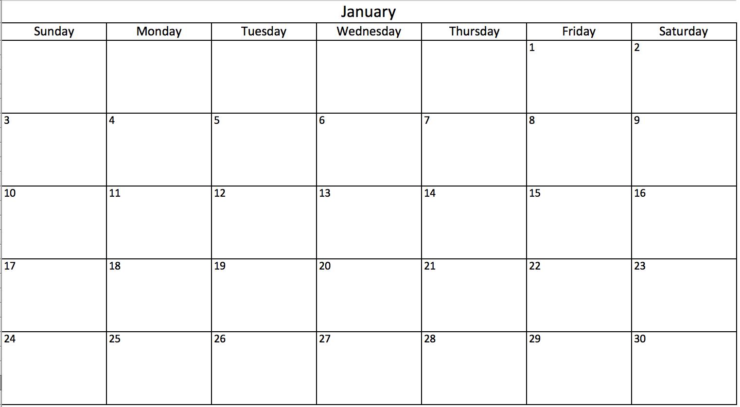 Calendar To Type In - Wpa.wpart.co