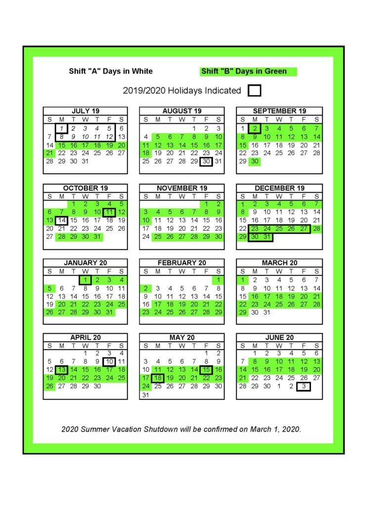Calendar – Unifor Local 88