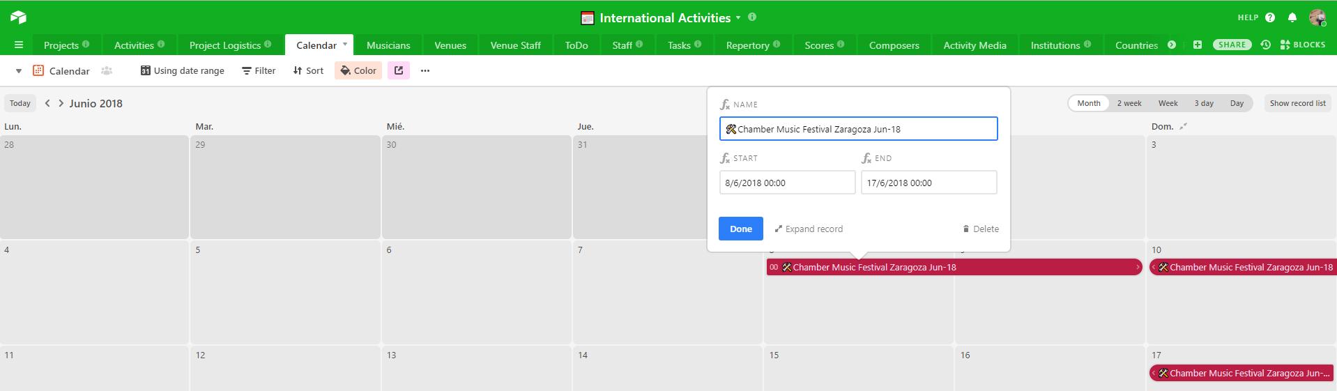 Calendar View: Date Range Longer Than One Week Looks Weird