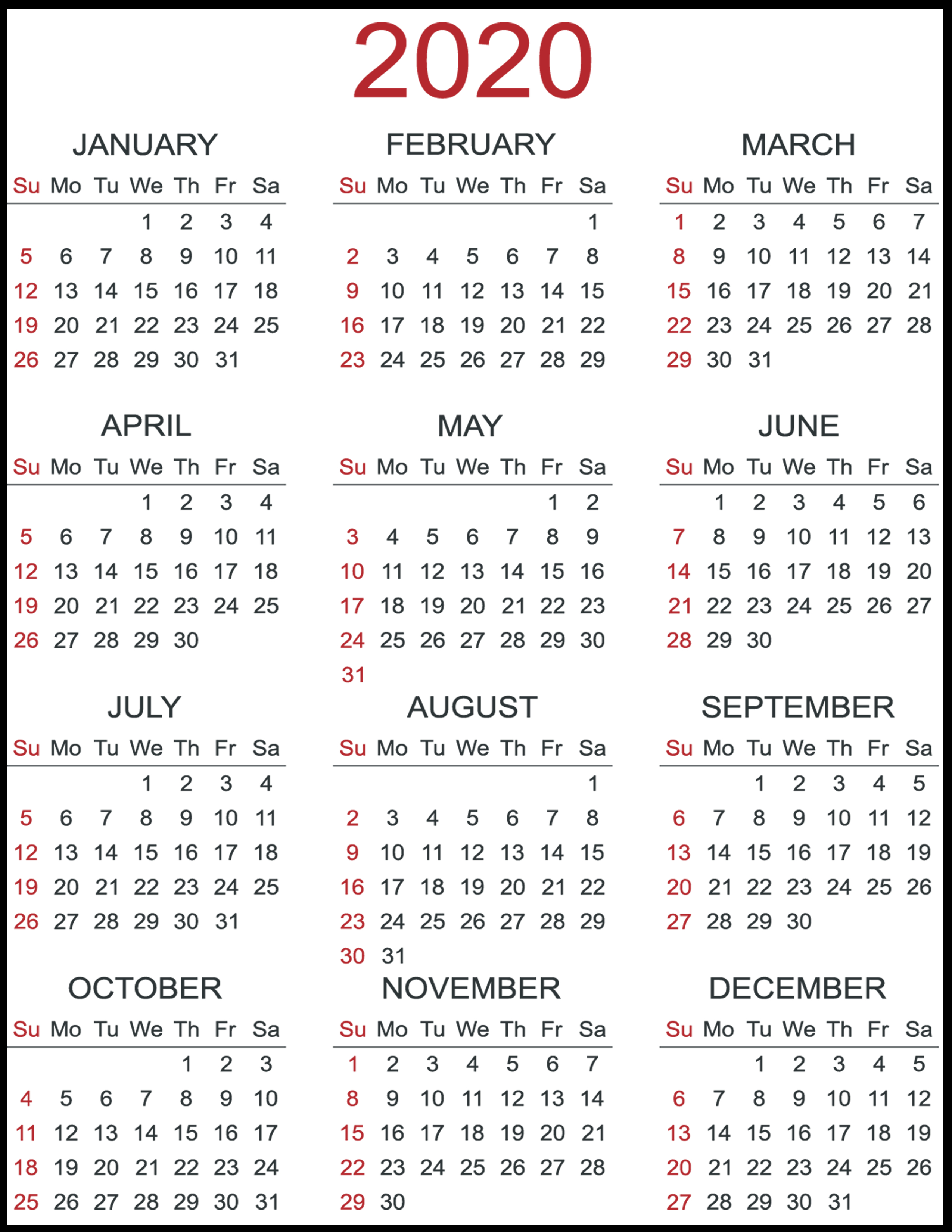 Calendars For 2020 And 2020 - Wpa.wpart.co