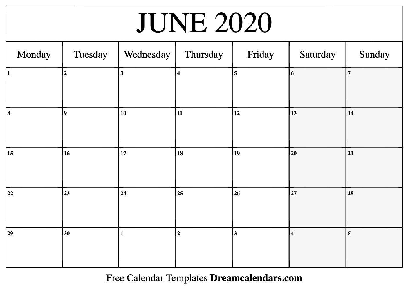 Calendars June 2020 - Wpa.wpart.co