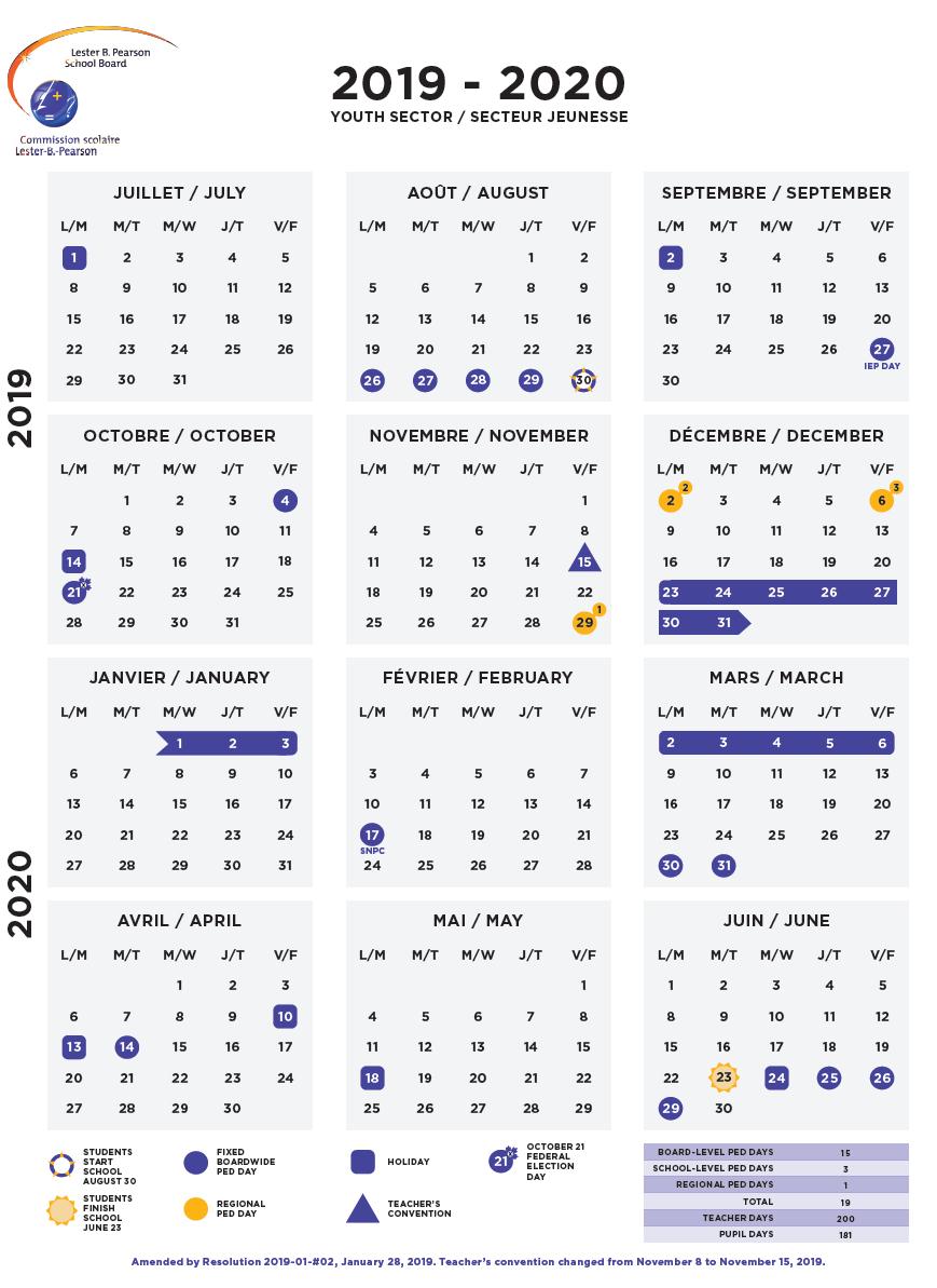Calendars - Lbpsb