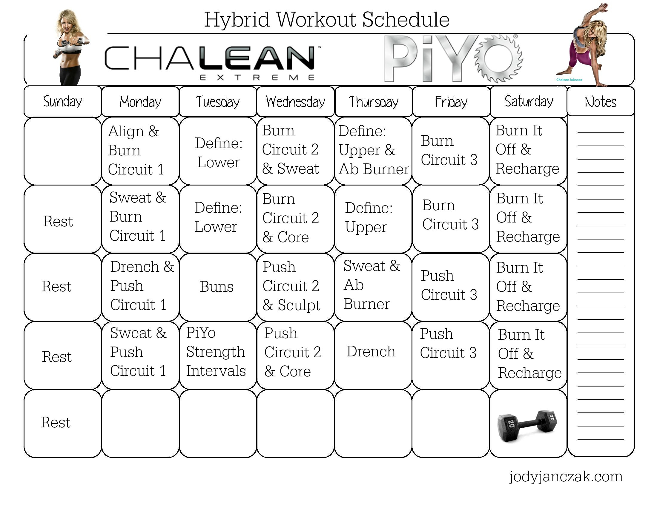 Chalean Extreme And Piyo Hybrid Workout! ***8 Week Program